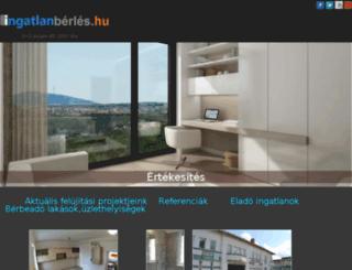 ingatlanberbeadas.com screenshot
