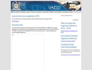 ingelectrica.uaz.edu.mx screenshot