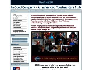 ingoodcompany.toastmastersclubs.org screenshot