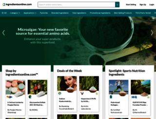 ingredientsonline.com screenshot