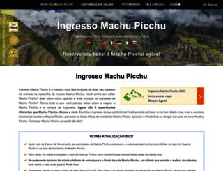 ingressomachupicchu.com screenshot