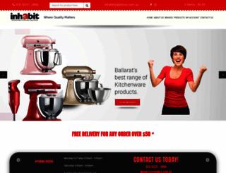 inhabithomewares.com.au screenshot