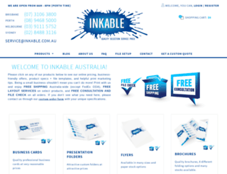 inkable.com.au screenshot