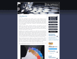 inkophile.wordpress.com screenshot