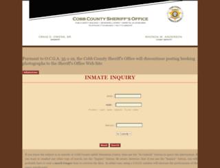 inmate-search.cobbsheriff.org screenshot