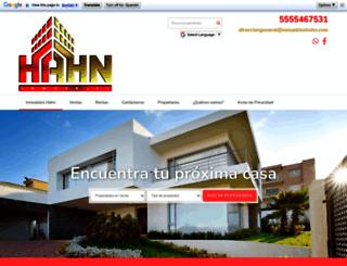 inmuebleshahn.com screenshot