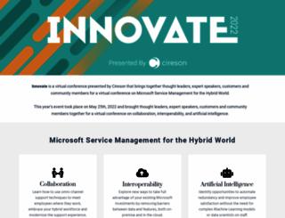 innovate.cireson.com screenshot