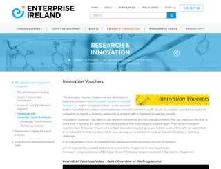 innovationvouchers.ie screenshot