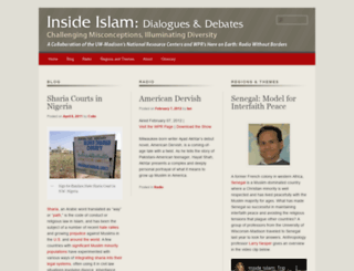 insideislam.wisc.edu screenshot