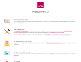 insidesystems.co.uk screenshot