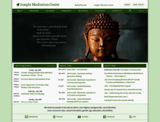 insightmeditationcenter.org screenshot