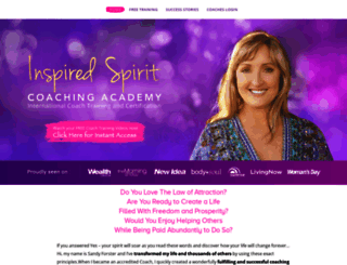 inspiredspiritcoachingacademy.com screenshot