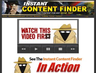 instantcontentfinder.com screenshot