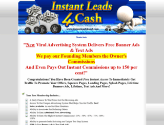 instantleads4cash.com screenshot
