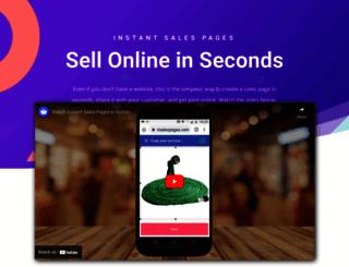 instantsalespages.com screenshot