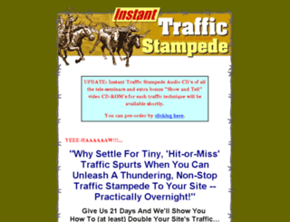 instanttrafficstampede.com screenshot