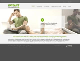 instanttransfer.com screenshot