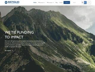 instiglio.org screenshot