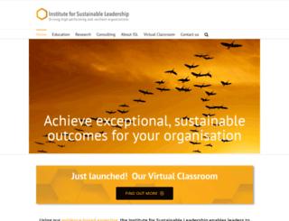 instituteforsustainableleadership.com screenshot