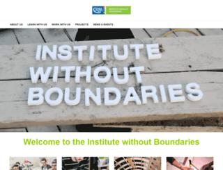 institutewithoutboundaries.ca screenshot