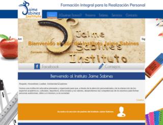 institutojaimesabines.com screenshot
