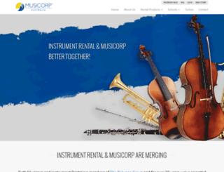 instrumentrental.com.au screenshot