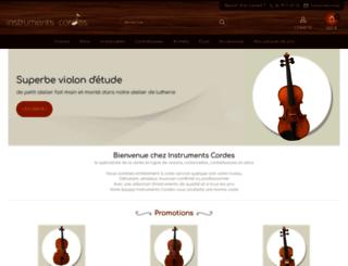 instruments-cordes.com screenshot