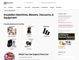 insulationmachines.net screenshot