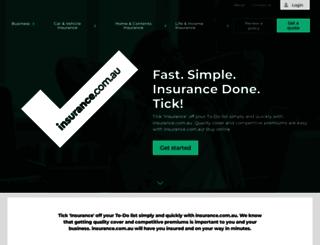 insurance.com.au screenshot