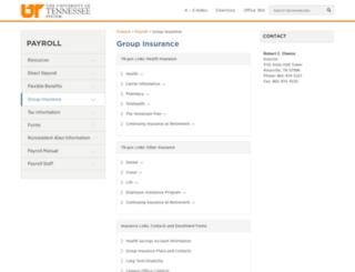 insurance.tennessee.edu screenshot