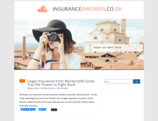 insurance4women.co.za screenshot