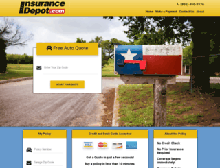insurancedepot.com screenshot