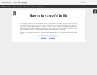 insuranceloansmortgage2015.blogspot.ca screenshot