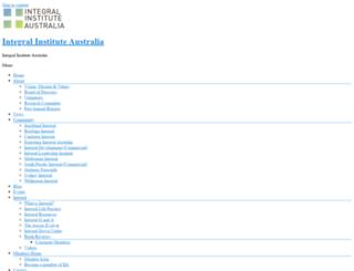 integralinstitute.org.au screenshot