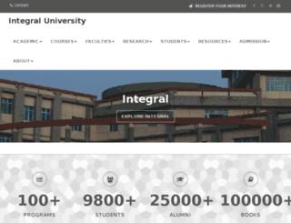 integraluniversity.ac.in screenshot