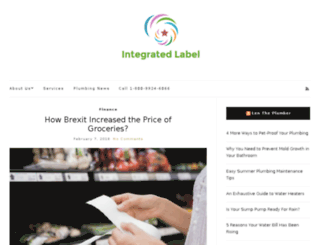 integrated-label.co.uk screenshot