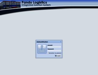 integrated.pandulogistics.com screenshot