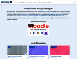 integrating-technology.org screenshot
