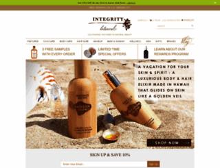 integritybotanicals.com screenshot