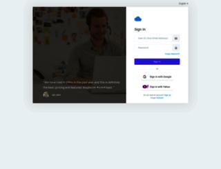 inteligential.agilecrm.com screenshot