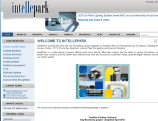 intellepark.co.za screenshot