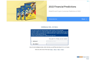 intelligence-test.net screenshot