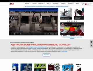 intelligentactuator.com screenshot