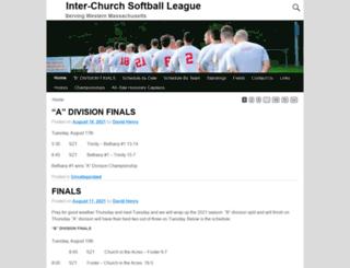 interchurchsoftball.com screenshot