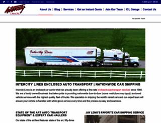intercitylines.com screenshot