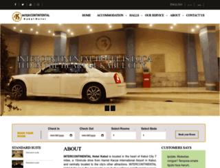 intercontinentalkabul.com screenshot