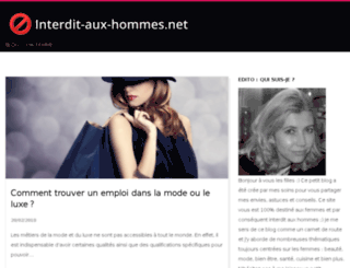 interdit-aux-hommes.net screenshot