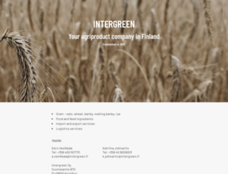 intergreen.fi screenshot