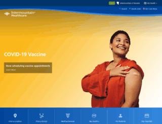 intermountainhealthcare.com screenshot