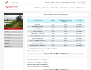 international-tours.discoverybangladesh.com screenshot